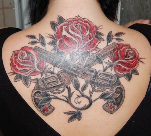 Gun Tattoos Meanings Designs And Ideas: Guns And Roses Tattoos Designs, Ideas And Meaning