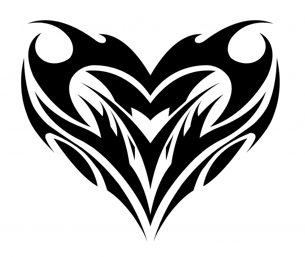 Tribal-Tattoos Heart-Tribal-Tattoos