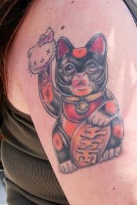 Hello Kitty Lucky Cat Tattoo