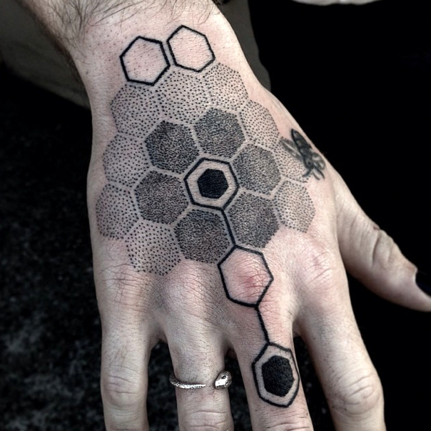Honeycomb Tattoos Designs, Ideas and Meaning   Tattoos For You