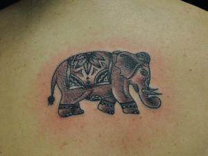 Indian Elephant Tattoo