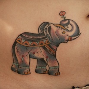 Indian Elephant Tattoo Images