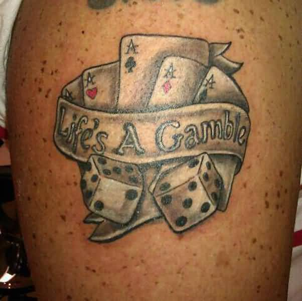 Gambling Tattoos Designs, Ideas and Meaning | Tattoos For You