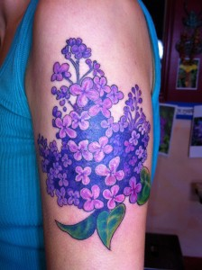 Lilac Flower Tattoo