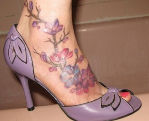 Lilac Foot Tattoo