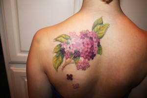 Lilac Tree Tattoo
