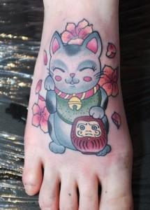 Lucky Cat Tattoos