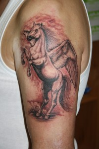 Pegasus Tattoo on Arm
