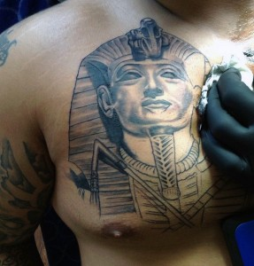 Pharaoh Chest Tattoo
