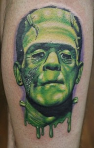 Pictures of Frankenstein Tattoo