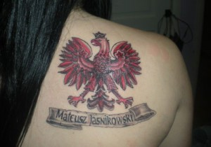 Polish Eagle Tattoo Girl