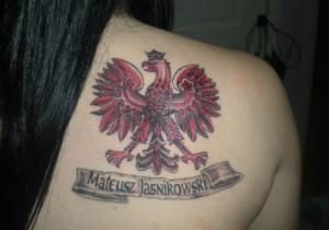 Polish Eagle Tattoo Girl