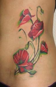 Poppy Flower Tattoo Designs