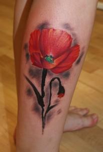 Poppy Flower Tattoo Images