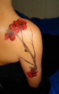 Poppy Flower Tattoo Shoulder