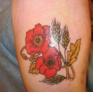 Poppy Flower Tattoo Traditional