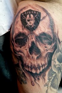 Raider Skull Tattoos