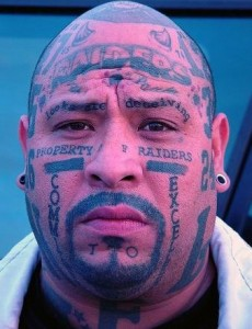 Raiders Face Tattoos