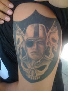 Raiders Tattoo Sleeve