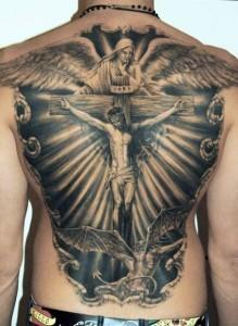 Religious Back Piece Tattoos