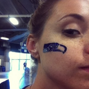 Seahawks Face Tattoos