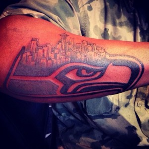 Seahawks Tribal Tattoo