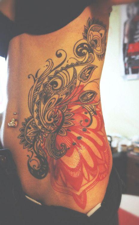 Image Result For Feminine Flower Back Tattoos