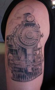 Simple Train Tattoos