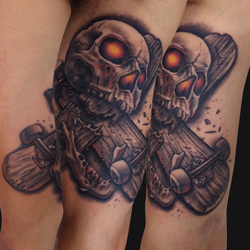 skateboard tattoos designs ideas and meaning tattoos