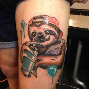 Sloth Tattoo Designs