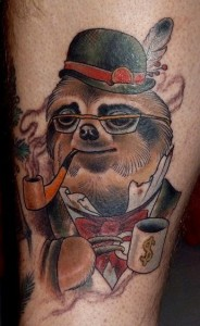 Sloth Tattoo Ideas
