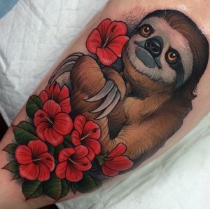 Sloth Tattoo Pictures