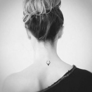 Small Back of the Neck Tattoos