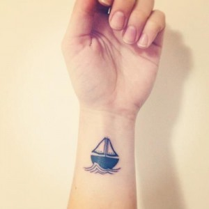 Small Boat Tattoo