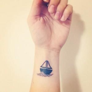 Small Boat Tattoo