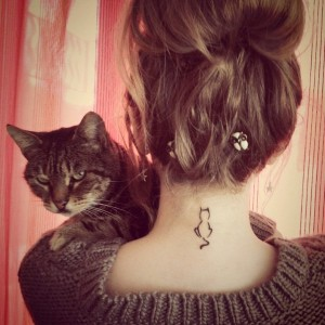 Small Neck Tattoo