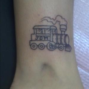 Small Train Tattoos