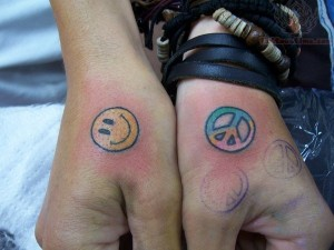 Smiley Face Tattoo on Wrist
