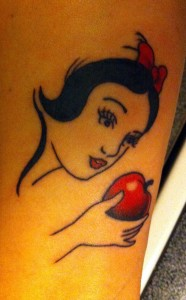 Snow White Apple Tattoo
