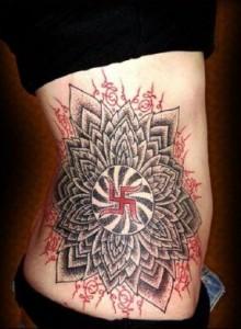 Swastika Tattoo for Girls