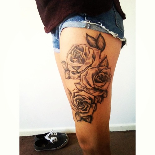 Female Thigh Tattoos Designs, Ideas And Meaning