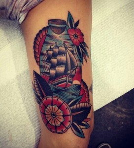 Traditional Ship Tattoos