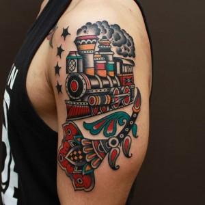 Traditional Train Tattoos