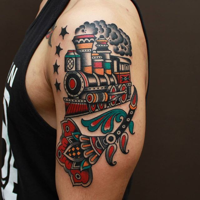 Underarm Tattoos Designs Ideas And Meaning: Train Tattoos Designs, Ideas And Meaning