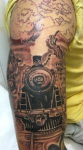 Train Sleeve Tattoos