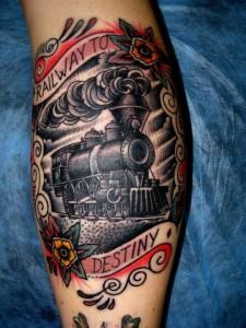 Train Tattoo Designs