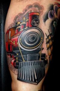 Train Tattoos Images