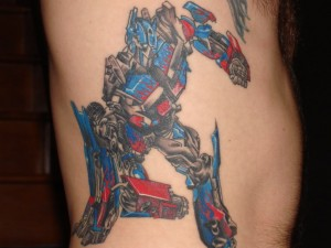 Transformers Tattoos Optimus Prime