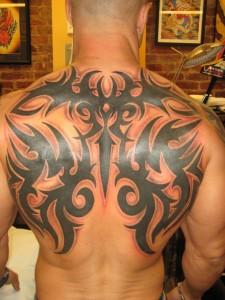 Tribal Back Piece Tattoos