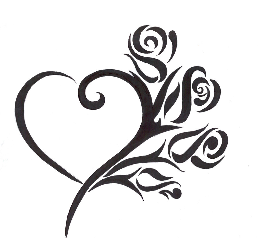 Tribal Heart Tattoos Designs, Ideas And Meaning